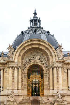 palais: Entrance door to the Petit Palais in Paris, France Editorial