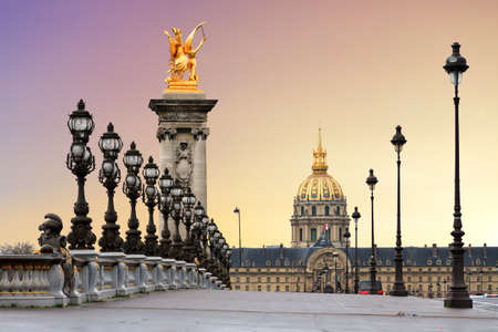 alexandre: Beautiful sunrise at the Pont Alexandre III and Les Invalides in Paris