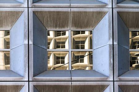 la defense: Beautiful close up of skyscraper windows of an office building at La Defense, Paris