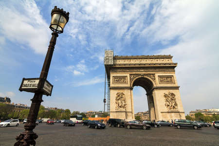 gaulle: The Arc du Triomphe at the Place de Gaulle in Paris, France