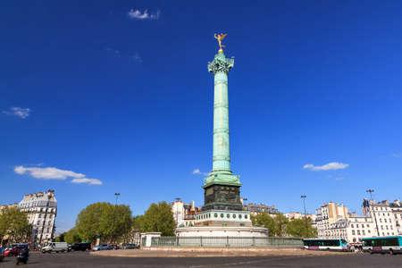 The July Column, Colonne de Juillet, on the Place de la Bastille in Paris, France