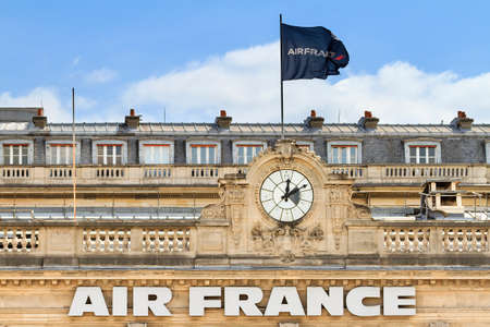 headquarters: Air france headquarters in Paris, France, on April 15, 2014 Editorial