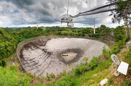 radio telescope: The Arecibo Observatory radio telescope in the hills of Arecibo, Puerto Rico