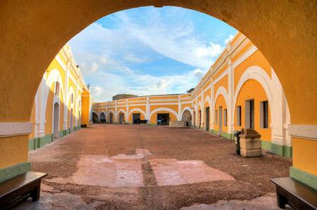 see through: See through at ancient Fort San Felipe Del Morro in San Juan, Puerto Rico