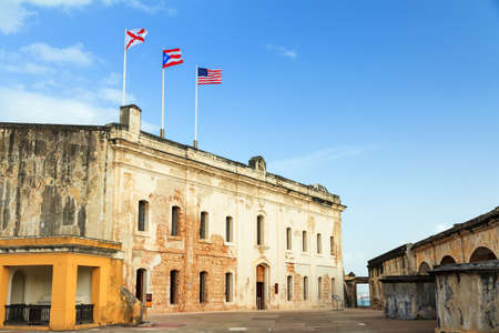 cristobal: Beautiful view of fort San Cristobal in San Juan, Puerto Rico