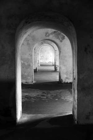 doorways: Beautiful abstract view of the different doorways in castillo Del Morro, Puerto Rico