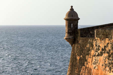 sentry: Beautiful sentry box (guerite) at fort San Felipe Del Morro in San Juan, Puerto Rico Editorial