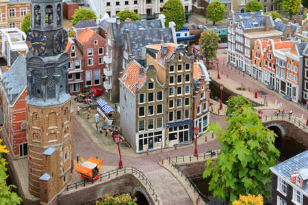 the hague: Miniature park Madurodam, home of scale model replicas of famous Dutch landmarks in Scheveningen, The Netherlands