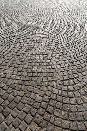 Beautiful cobblestones on the streets at the National Monument (Monumen Nasional, MoNas) in Jakarta, Indonesia