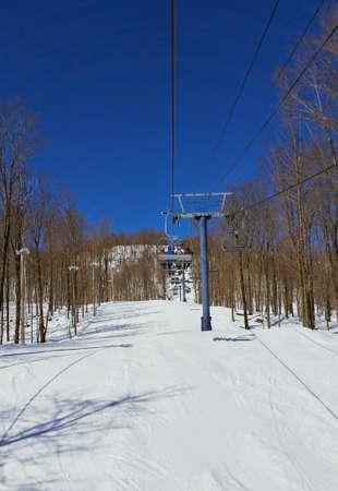 Groomed trail. Ski Bromont.