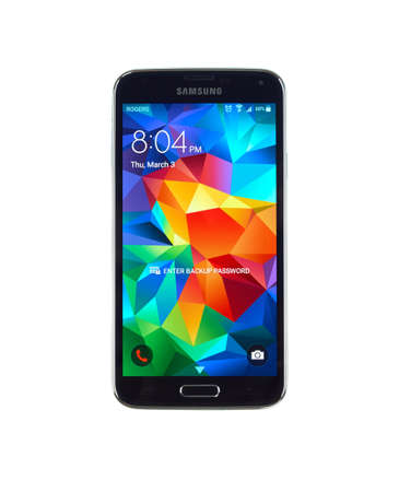 samsung: MONTREAL, CANADA - MARCH 3, 2016 - Samsung Galaxy S5 smartphone. One of the popular cell phones.