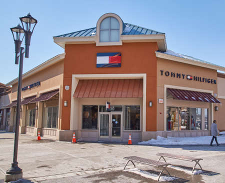 tommy: MONTREAL, CANADA - MARCH 6, 2016 - Tommy Hilfiger outlet in  Premium Outlets Montreal. The Premium Outlets is the second Premium Outlet Center in Canada located in Mirabel, Quebec. Editorial