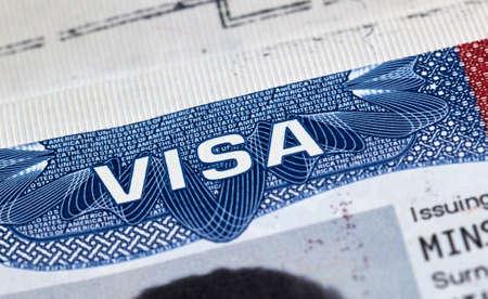 USA visitor visa in passport