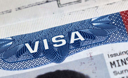 USA visitor visa in passport
