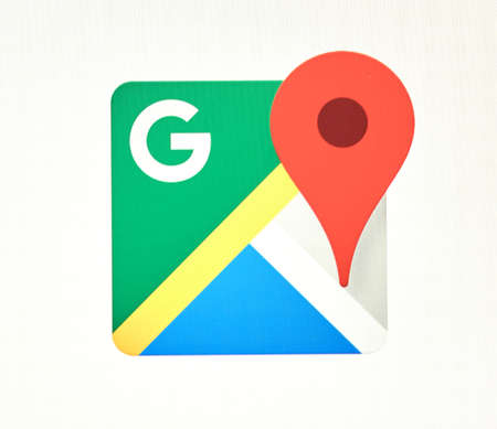 MONTREAL, CANADA - MAY 23, 2016 : Google Maps logo. The Google Maps app is a popular gps navigation software. Editorial