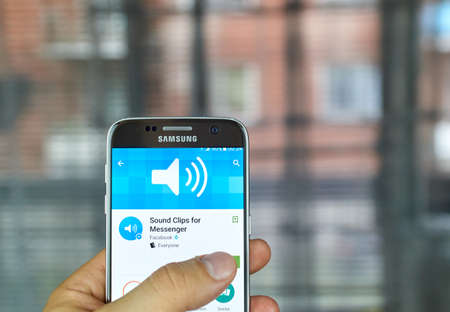 MONTREAL, CANADA - JUNE 24, 2016 : Sound Clips for Messenger can send pre-recorded sounds and phrases to make Facebook messages come to life.