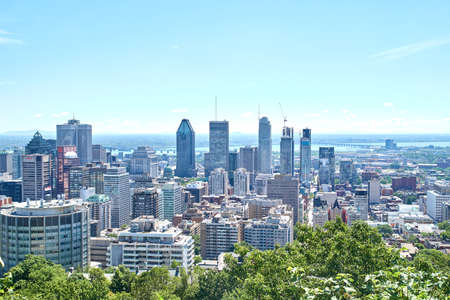 Scenic view of downtown Montreal