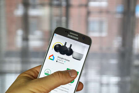 MONTREAL, CANADA - DECEMBER 23, 2016 : The Google Home app is one app to set up, manage, and control Chromecast, Chromecast Audio and Google Home devices
