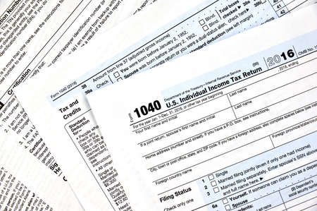 1040 U.S individual income tax return form