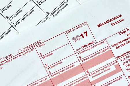 1099 Miscellanious income tax form 1099-MISC