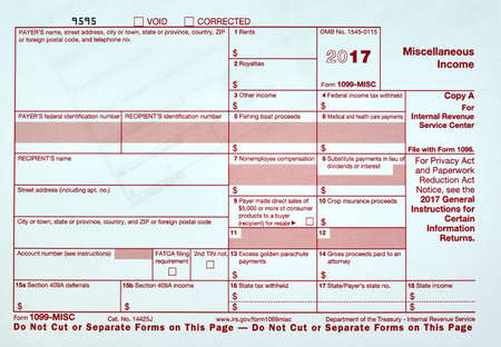 1099 Miscellanious Income Tax Form 1099-MISC Stock Photo, Picture ...