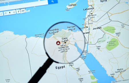 MONTREAL, CANADA - APRIL 09, 2017: Egypt And Cairo On Google.. Stock ...