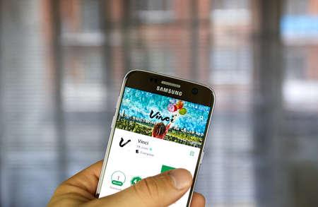 MONTREAL, CANADA - JULY 30, 2017: Vkontakte Vinci application on Samsung S7 screen. Vinci is an image-editing app that, developed and designed by Vkontakte.