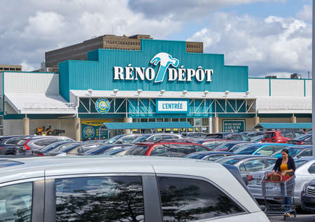 PLATTSBURGH, USA - AUGUST 23, 2017 : Reno Depot store and parking. Reno-Depot is a Canadian chain of home supply stores owned by Lowes
