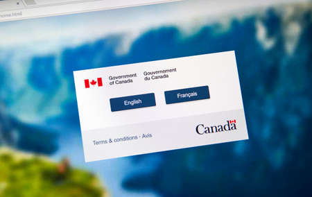 MONTREAL, CANADA - NOVEMBER 17, 2017: Official web page of Canadian Government where every user can relevant information about Canadian Government and its Departments and services.