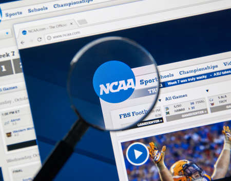 MONTREAL, CANADA - NOVEMBER 7, 2017: NCAA web page. The National Collegiate Athletic Association is a member-led organization dedicated to the well-being and lifelong success of college athletes Editorial