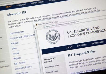 MONTREAL, CANADA - NOVEMBER 7, 2017: SEC official webpage. The U.S. Securities and Exchange Commission is an independent agency of the United States federal government.