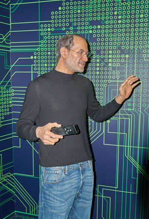 MONTREAL, CANADA - SEPTEMBER 23, 2018: Steven Paul Jobs, an American business magnate and investor. Wax museum Grevin in Montreal, Quebec, Canada