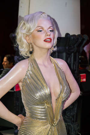 MONTREAL, CANADA - SEPTEMBER 23, 2018: Marilyn Monroe, American actress, model, and singer. Wax museum Grevin in Montreal, Quebec, Canada