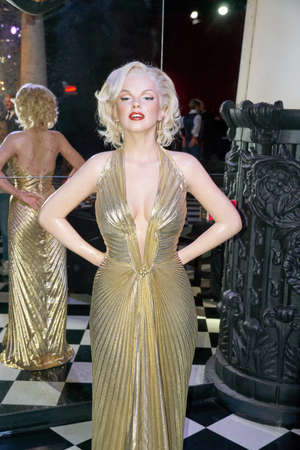 MONTREAL, CANADA - SEPTEMBER 23, 2018: Marilyn Monroe, American actress, model, and singer. Wax museum Grevin in Montreal, Quebec, Canada Redakční