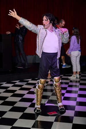 MONTREAL, CANADA - SEPTEMBER 23, 2018: Michael Jackson, American singer, songwriter and dancer. Wax museum Grevin in Montreal, Quebec, Canada