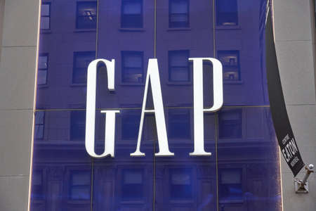 MONTREAL, CANADA - OCTOBER 4, 2018: Gap storefront and logo. Gap is a popular American worldwide clothing and accessories retailer.