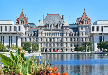 The New York State Capitol building. The New York State Capitol, the seat of the New York State government, located in Albany, the capital city of NY state