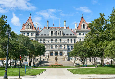 The New York State Capitol building. The New York State Capitol is the seat of the New York State government, located in Albany, the capital city of NY state