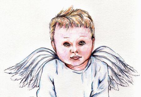 bebe angel: Angel Baby 3  Vectores