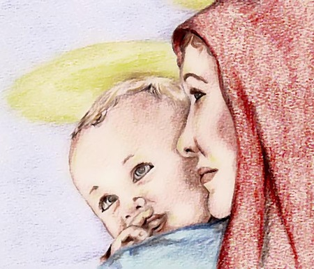 madonna: Madonna and Child Illustration