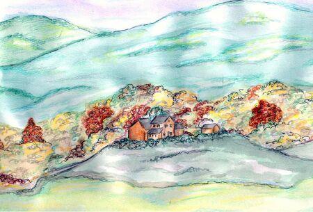 Pastel Hillside