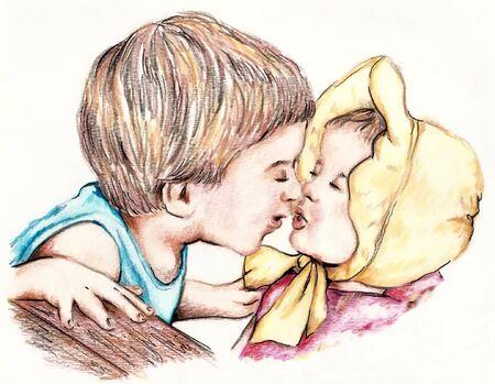 첫 키스 일러스트