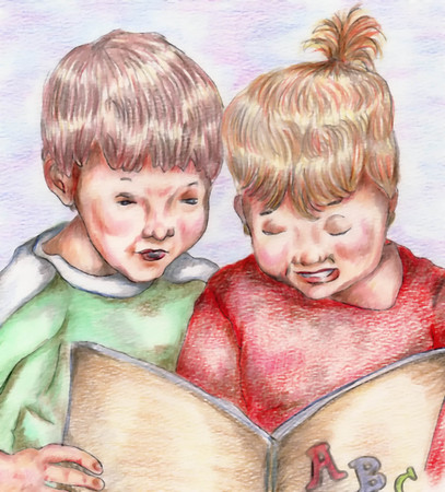 Kids Reading ABSs