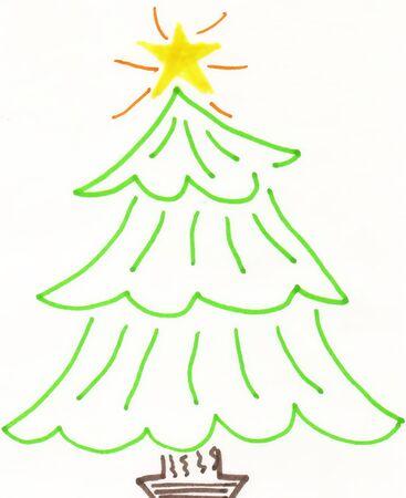 Christmas Tree 1 Ilustrace
