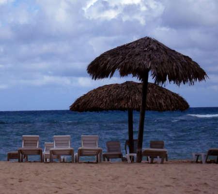 Beach Huts Imagens