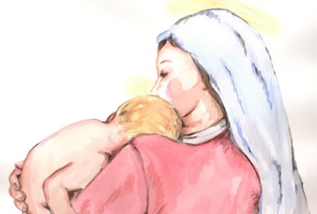 mary and jesus: Madonna 3 Illustration