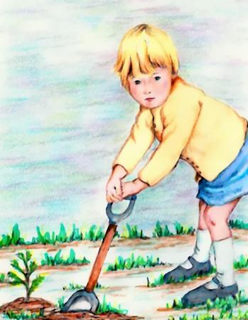 baum pflanzen: Baumpflanzaktion Zeit