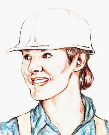 Construction Woman Vector