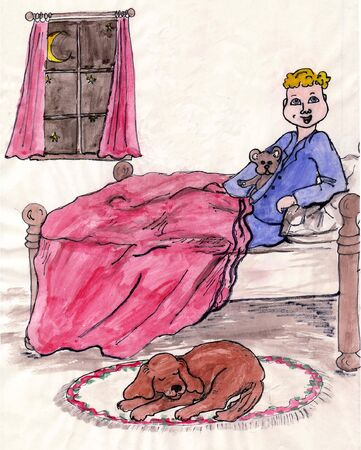 bedtime: Bedtime Boy Illustration