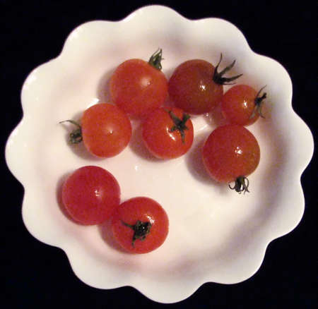 チェリー トマトのボウル 写真素材